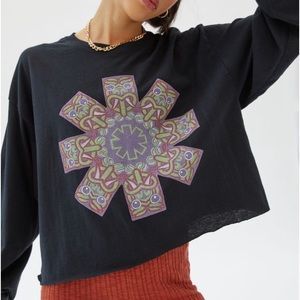 Red Hot Chili Peppers long sleeve crop tee
